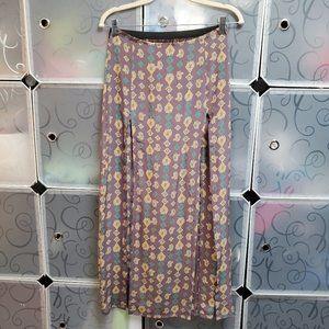 Blu Moon 2 slit Maxi Skirt